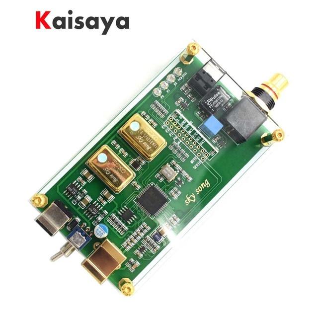 XMOS XU208 asynchronous USB coaxial optical output digital interface IIS DSD256 spdif dop64 in case for hifi amplifier A6-018