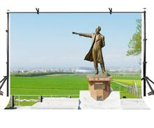7x5ft Famous Statue Backdrop Dr. William Clark Photography Background and Studio Props