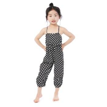 Kaiya Angel New Arrival Wholesale Kid Girls Jumpsuit Sleeveless Summer Infant Romper Sweet Cute Toddler 100% Cotton One Piece