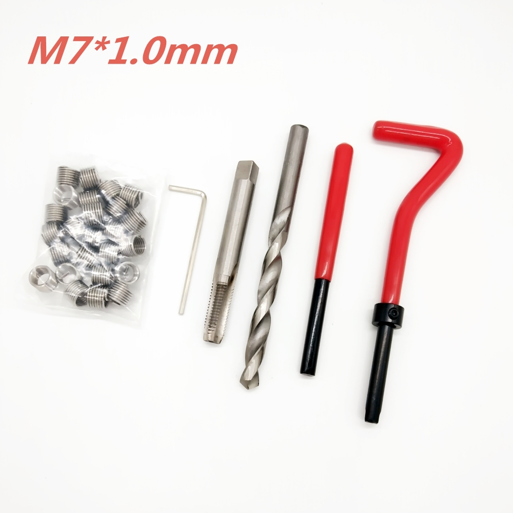 25pcs M7*1.0 Car Pro Coil Drill Tool Metric Thread Repair Insert Kit for Helicoil Car Repair Tools Coarse Crowbar25pcs M7*1.0 Car Pro Coil Drill Tool Metric Thread Repair Insert Kit for Helicoil Car Repair Tools Coarse Crowbar