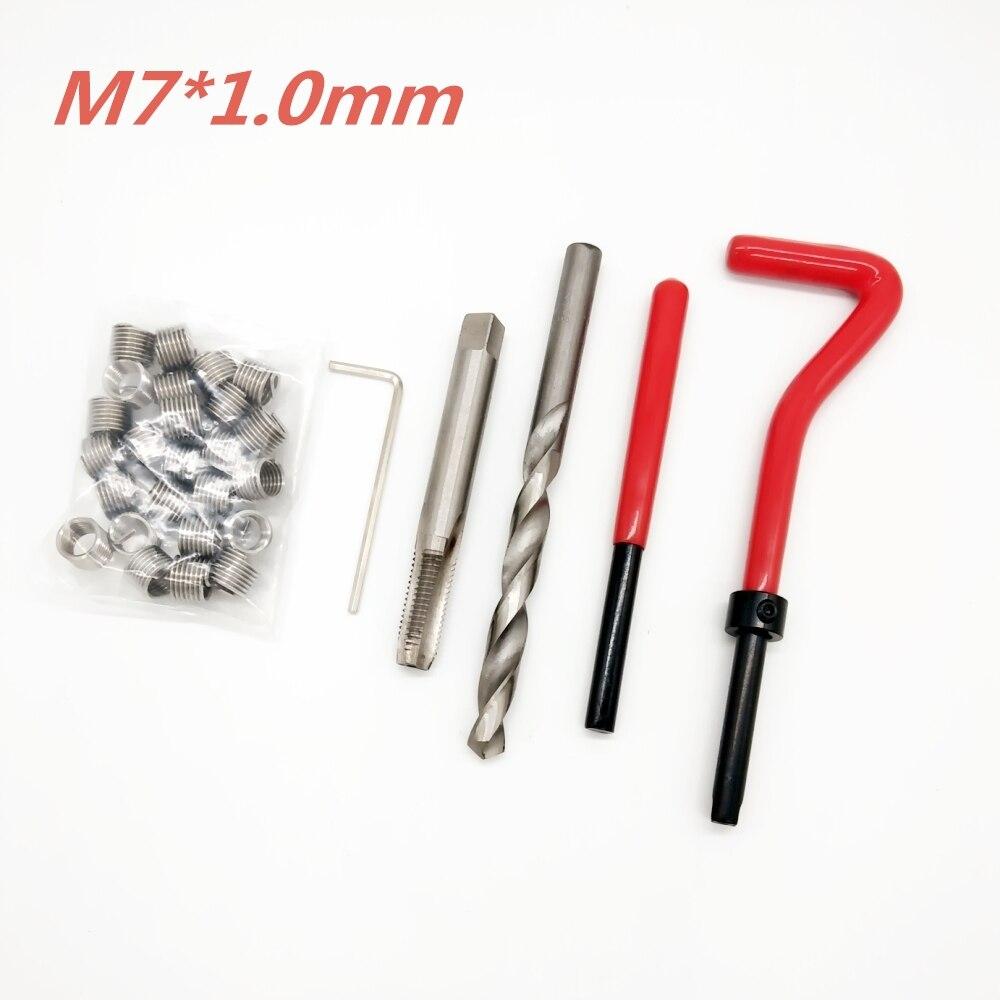 25pcs M7*1.0 Car Pro Coil Drill Tool Metric Thread Repair Insert Kit For Helicoil Car Repair Tools Coarse Crowbar