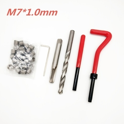 25pcs M7*1.0 Car Pro Coil Drill Tool Metric Thread Repair Insert Kit for Helicoil Car Repair Tools Coarse Crowbar