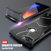 Fashion Panther Superhero Magnetic Frame Metal Case For iPhone 7 Plus 8 Hard Cover Slim Thin Aluminum Shell Heat Dissipation multifunctional heat dissipation 8gpu mining frame case stackable design aluminum acrylic insulation mining frame case