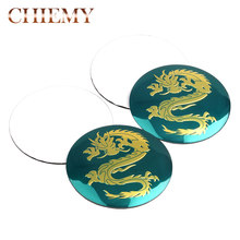 4 pièces haute qualité 56 mm Dragon logo voiture emblème roue Center moyeu capuchon jante Badge couverture style pour Dragon VW Audi BMW Nissan Honda(China)