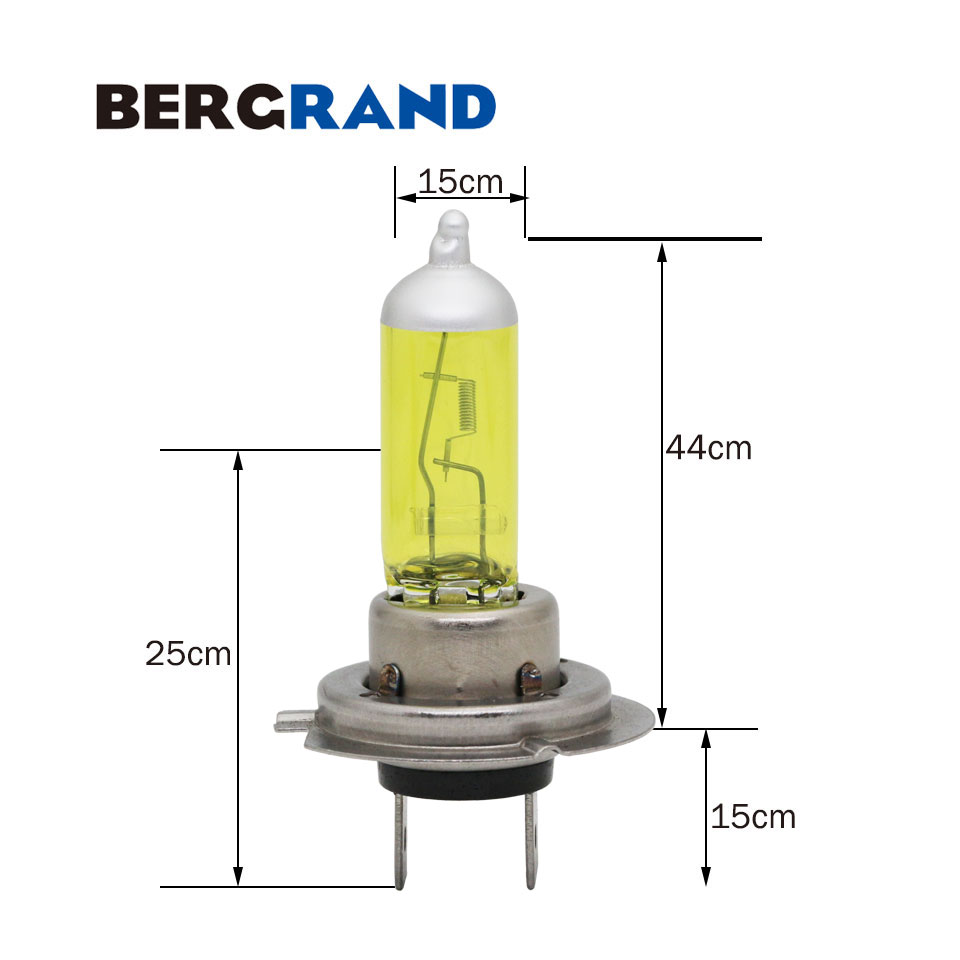 2 STK H7 gul halogenlampa 12V 55W Xenon 2700K hårt glas - Bilbelysning - Foto 5