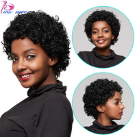 Kiss mee Short Curly Human Hair Wigs Natural Color Short Curly Bob Wigs For Black Women Remy Brazilian afro Kinky Curly Wigs