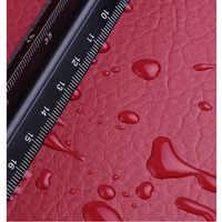 100x135 cm 24 couleurs Lychee PU cuir tissu au mètre synthétique Faux cuir tissu pour coudre bricolage sac canapé meubles matériel