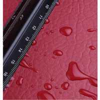 100x135cm 24 Colors Lychee PU leather Fabric by Meter Synthetic Faux Leather Fabric for Sewing DIY Bag Sofa Furniture Material