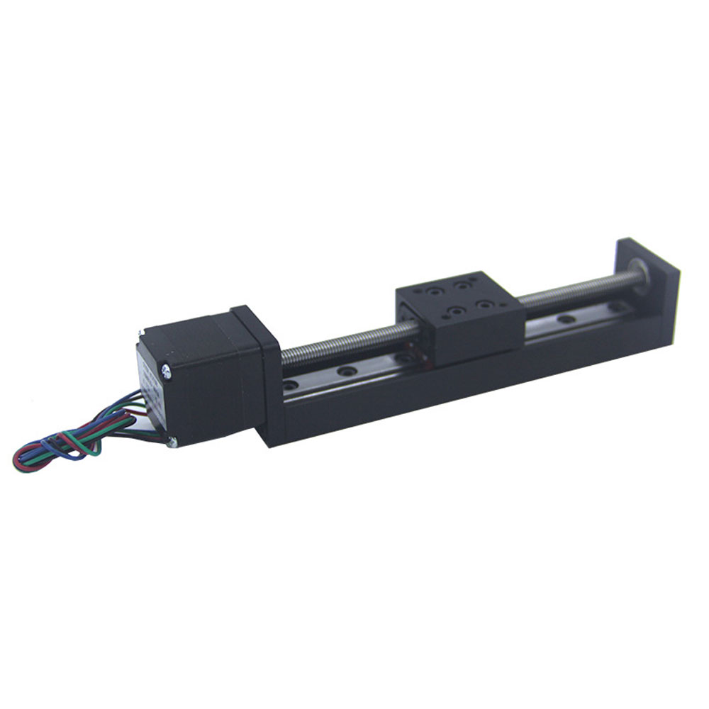 Lead Screw Mini Sliding Table Stroke 50mm T6 1 Square Rails Cross Slide Electric Stepper Motor