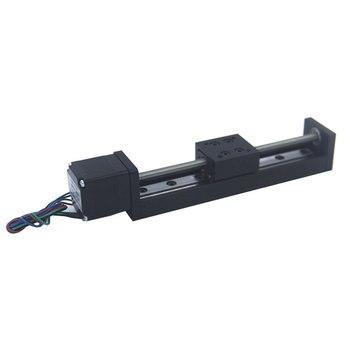 Lead Screw Mini Sliding Table Stroke 50mm T6*1 Square Rails Cross Slide Electric Stepper Motor NEMA11 for Automation