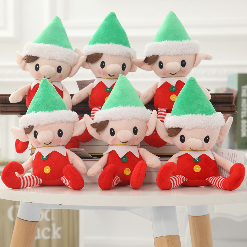 30cm Cute Christmas Spirit Doll Elf On Shelf Christmas