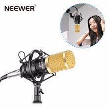 Neewer conjunto de gravação profissional de estúdio, NW-800, conjunto de gravações, condensador, tipo de bola, anti-vento, espuma, cabo de alimentação preto