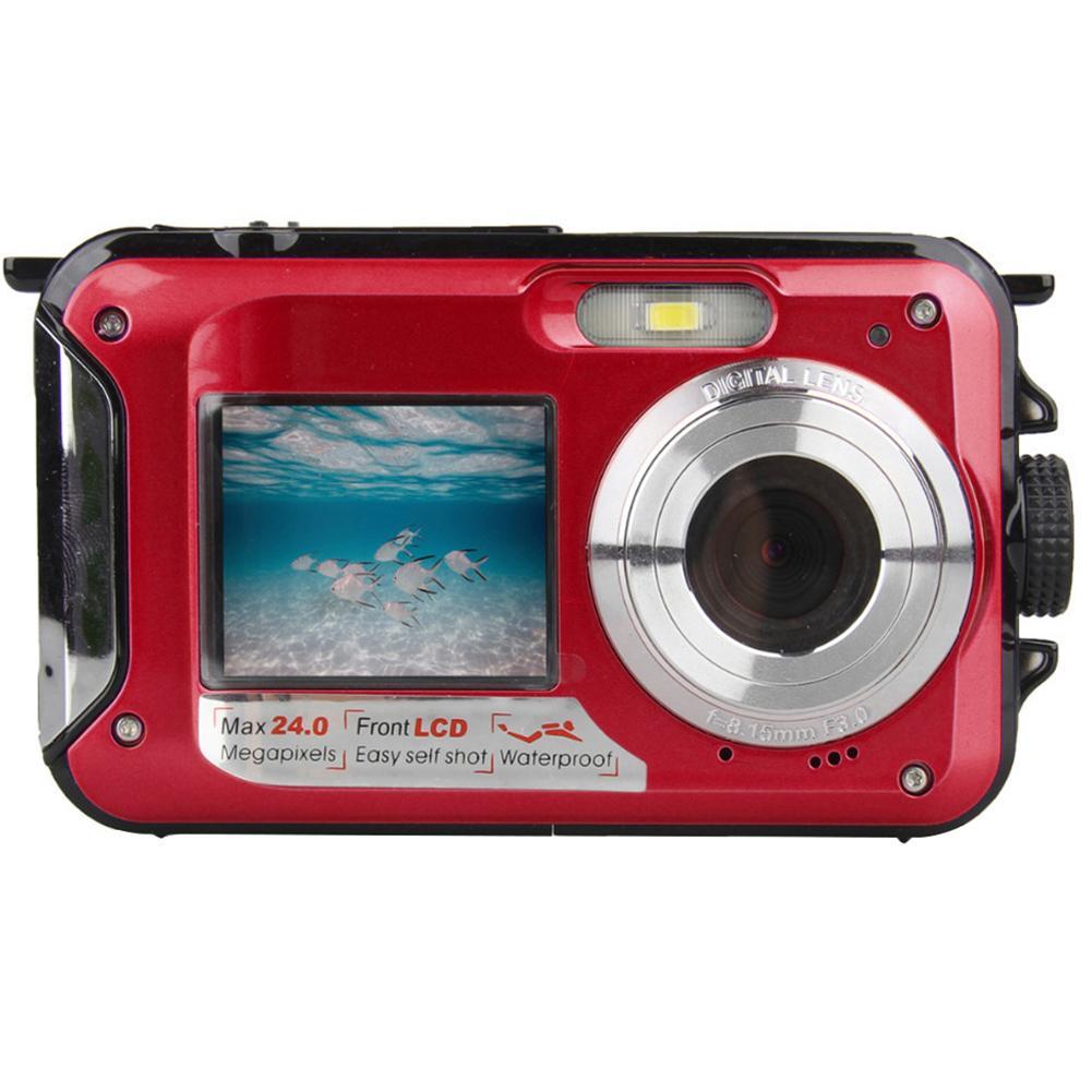 SHOOT Full HD 1080 p Double écrans sport numérique Zoom étanche caméra de plongée enfant cadeau