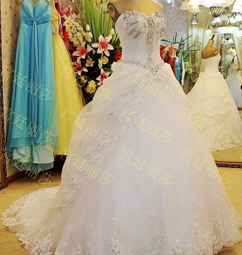 Top Selling Sweetheart Crystal Wedding Gowns/Dresses Online Shopping ...
