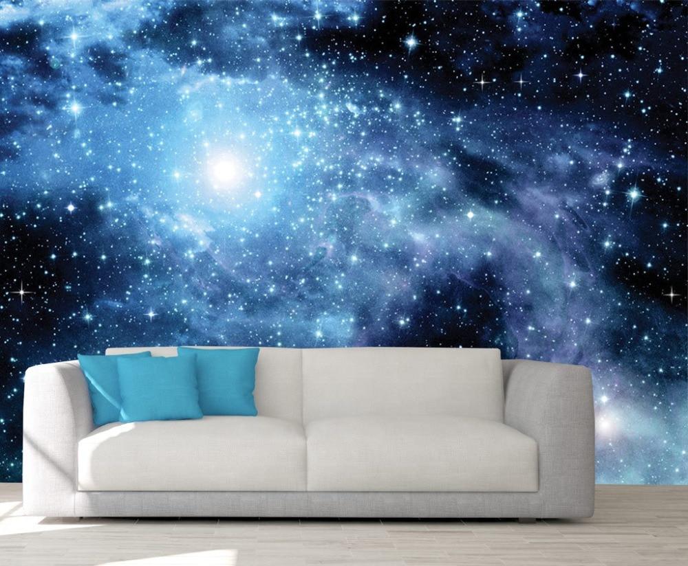 Custom 3d Photo Wallpaper Galaxy Murals Pace Wallpaper Outer Space Wall Mural Stars Universe Planet Wallpapers Aliexpress