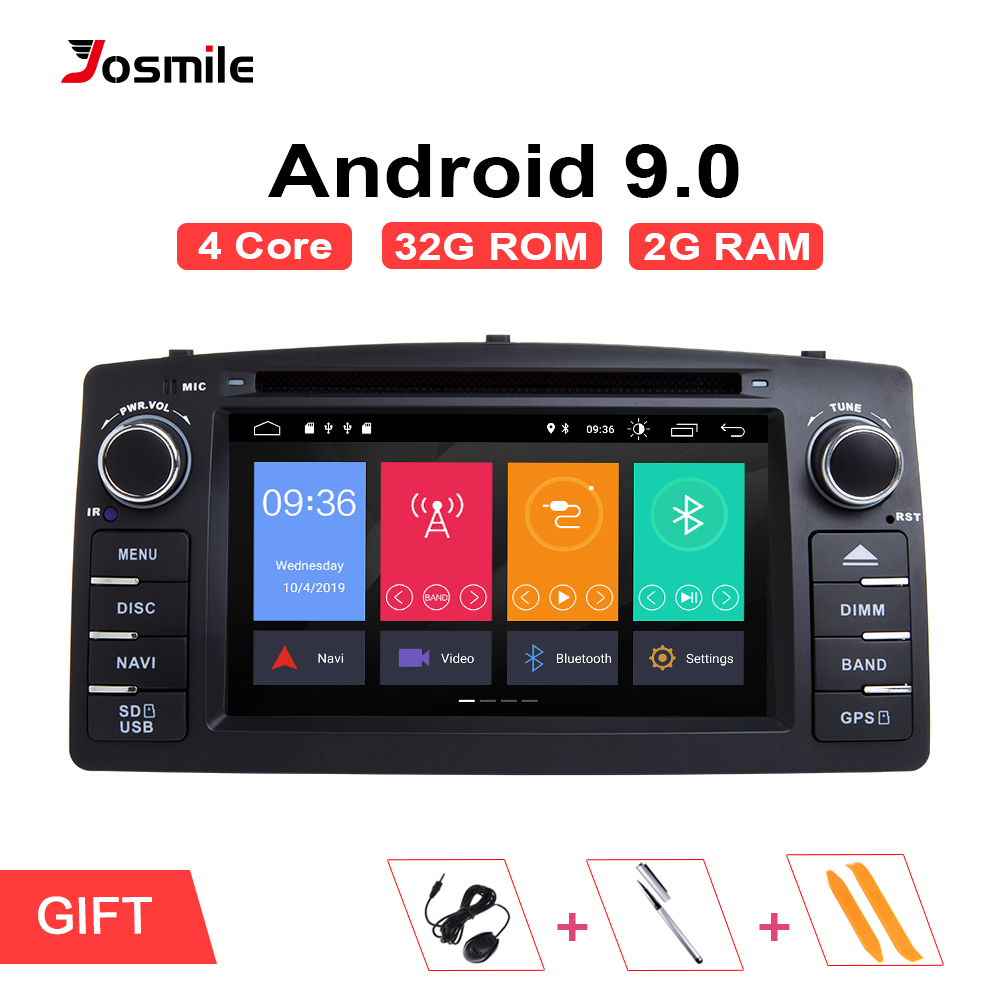 Din Android 9.0GPS 2 Rádio Car Multimedia Para Toyota Corolla BYD E120 F3 2001 2002 2003 2004 2005 2006 Cabeça unidade StereoNavigation