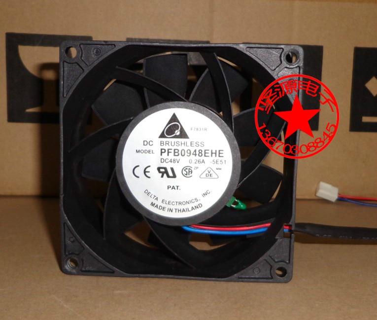 Delta Electronics PFB0948EHE -5E51 Server Square Fan DC 48V 0.26A 90x90x38mm 3-wire