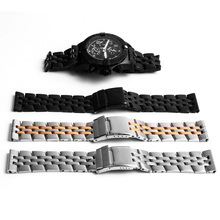 22mm 24mm Stainless Steel Watch Bands For Breitling Watch Strap Brand for Ocean Watchband Bracelet 18mm 20mm Silver Gold Black