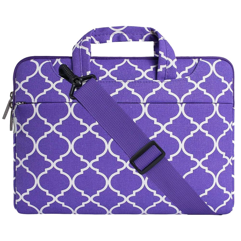 Men Women Laptop Gift Handbags Geometric Pattern Protective Business Storage Briefcase Travel Cover Rectangle Shoulder Bag