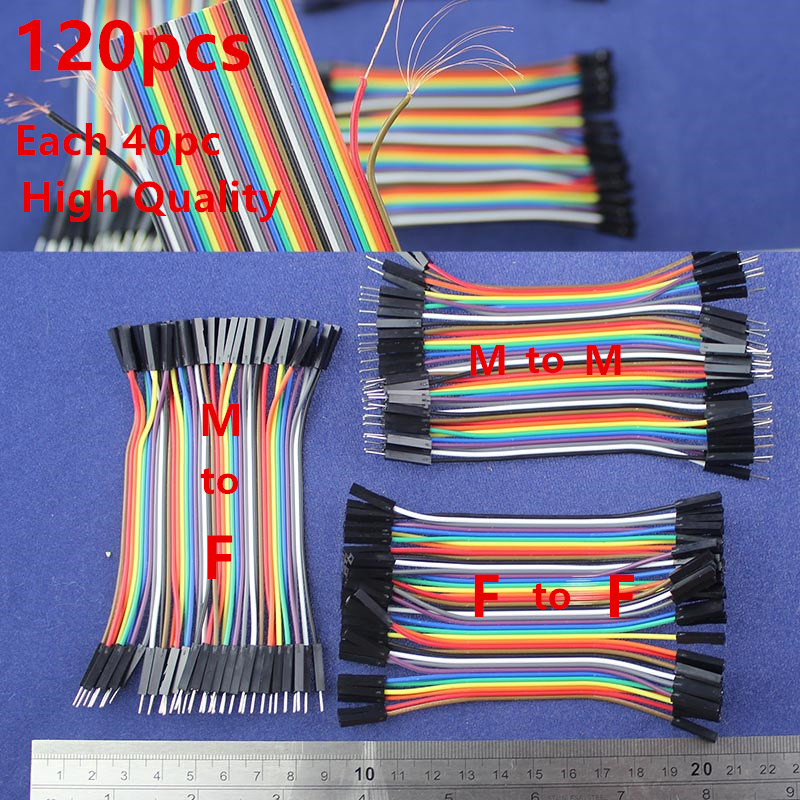 High quality Copper Wire Dupont line 120pcs 10cm Male to Male /Male to Female/Female to Female jumper wire cable /For Arduino 1pcs lot md6f line md6 female mouse and keyboard to 4p terminal line 50cm