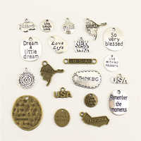 10 pçs jóias femininas locais quentes fé texto tag charme diy jóias acessórios charme diy acessórios