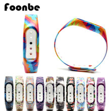 1 Pcs Rainbow Series for Xiaomi 2 for Miband 2 Smart Wristband Mi Band Silicone Strap Belt Bracelet Replacement Band