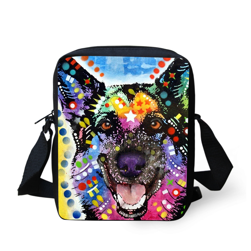 2016 Trendy Cool Animal School Bag For Student Boys Pet Pug dog Huskies Print Kids Schoolbag Baby Kindergarten Book Bag Mochila