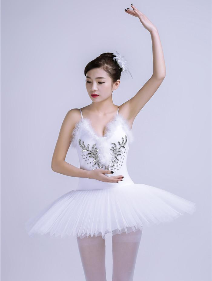 Adult Swan Lake Ballet Dance Costumes Girls Leotard Professional Tutu Dress Pleated White Black Collant Ballet Feminino Adulto
