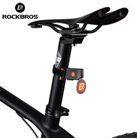 RocKBros Bike Tail Light USB Charger LED Night Riding Light Waterproof Safety Warning Lamp Clip Bike