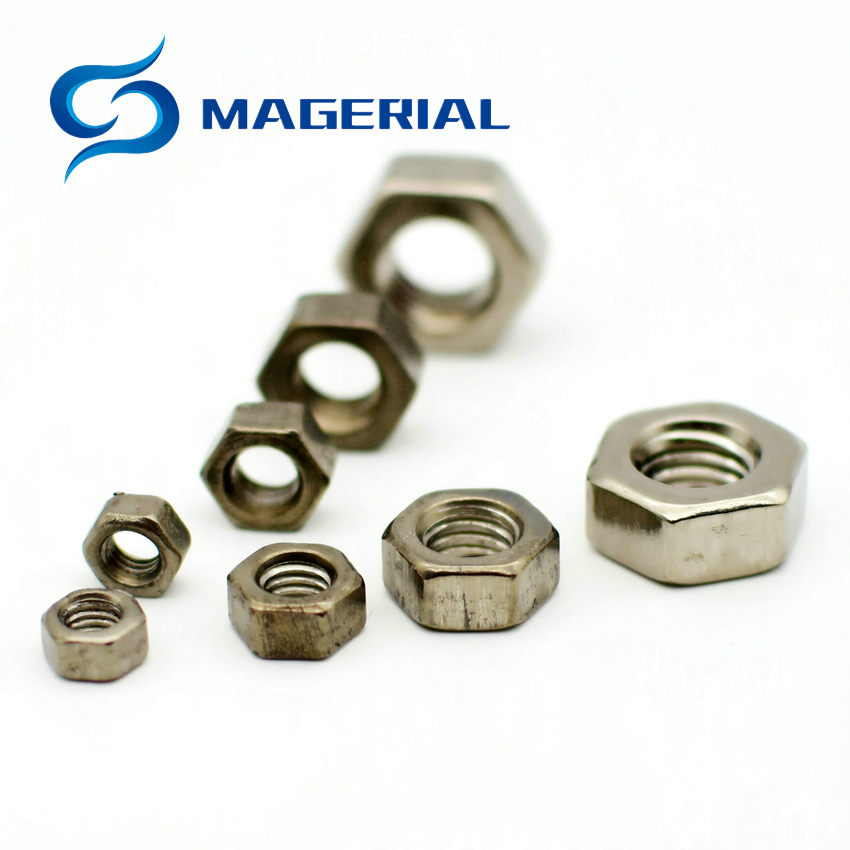 Ti <font><b>Screw</b></font> Nut M3 M4 M5 M6 M8 <font><b>M10</b></font> M20Titanium Flange Nut Ti color not polished Hexagon <font><b>titanium</b></font> <font><b>screw</b></font> Nuts Ti fastener 10pcs image