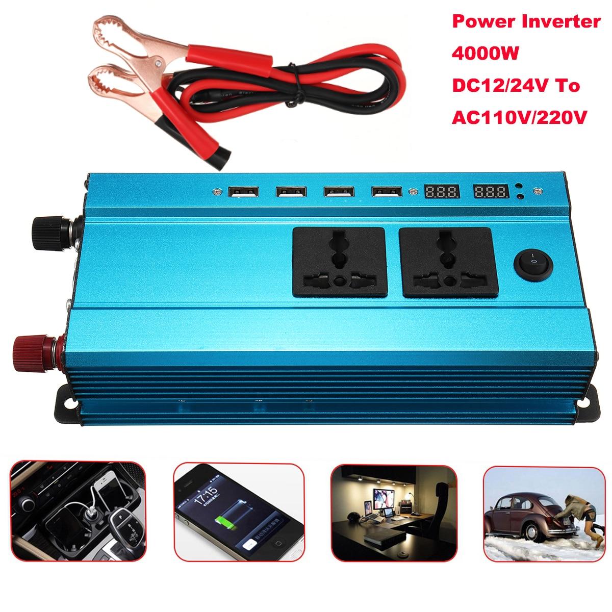 Sine Wave DC-AC Car Inverter 12V to 220V Power Inverter Volts Converter Adapter Charger Transformer Inversor 12V 220V