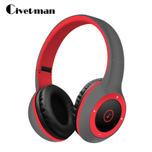 Civetman Cool Bluetooth Headphone HIFI Sport Portable Bluetooth Headset Sport Earphone with Mic TF Card slot for Phone PC TV