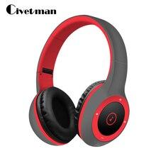 Civetman Cool Bluetooth Headphone HIFI Sport Portable Bluetooth Headset Sport Earphone with Mic TF Card slot for Phone PC TV
