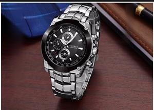 Image 2 - CURREN Luxury Male Clock Business Mens Quartz Wrist Watch Military Waterproof Watch Sport Relogio Masculino reloj hombre