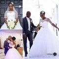 Robe de mariage 2017 Vestidos de Bola Vestido de Novia con Mangas Sheer Cuello Crystal 2017 vestidos de Novia