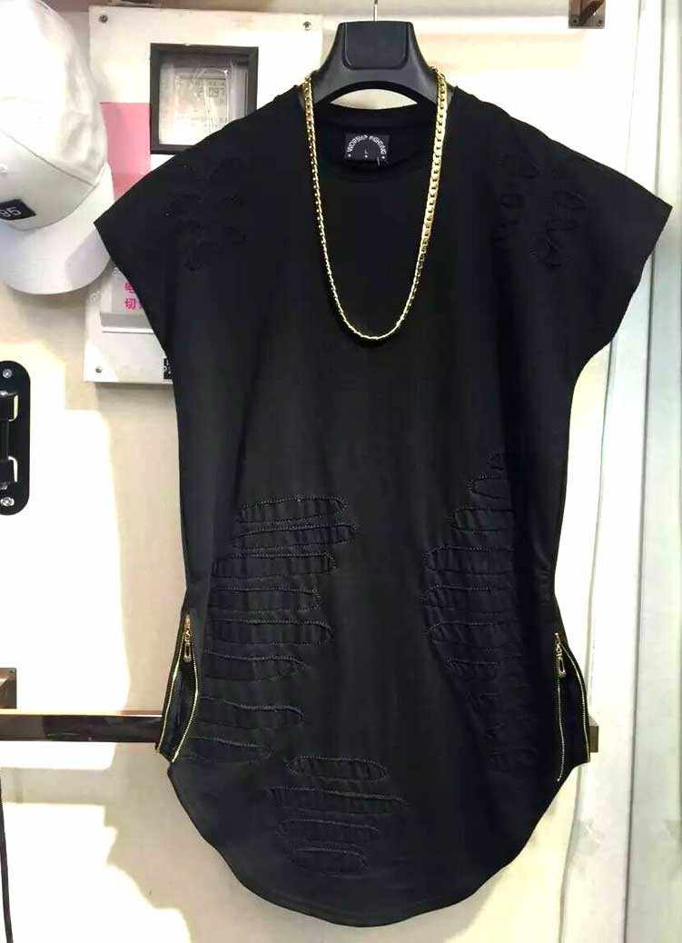 35d2e844655280 ... Man si Tun 2019 Newest Mens Curved Hem Ripped Tee Shirts Fashion  Destroyed Extended Zipper T. RELATED PRODUCTS. 2018 Hip-hop ...