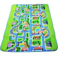 0.5 cm Dikke Town Stad Verkeer Baby Kruipen mat EVA Foam Klimmen Pad Green Road Speeltuin Mat Tapijt voor Baby