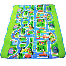 0 5 cm Thick Town City Traffic Baby Crawling mat EVA Foam Climbing Pad Green Road