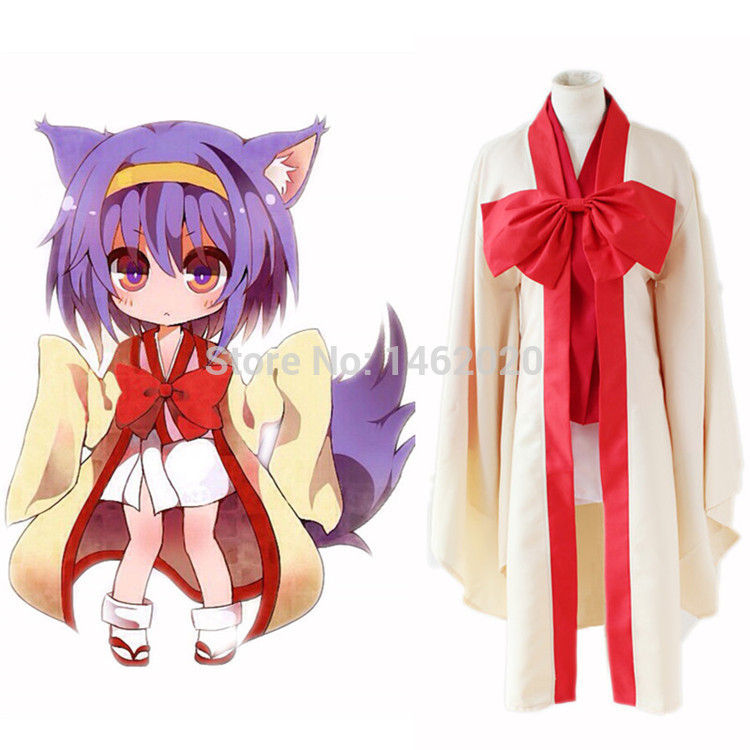 Anime No Game No Life Warbest Hatsuse Izuna Cosplay Costumes Japanese Kimono Halloween Party Dress