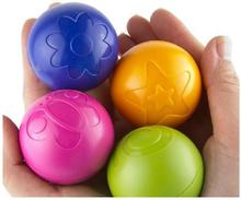 BOHS Baby Grasping Bouncing Rustle Ball  Plastic Egg Shaker Assortment Toy,4pcs