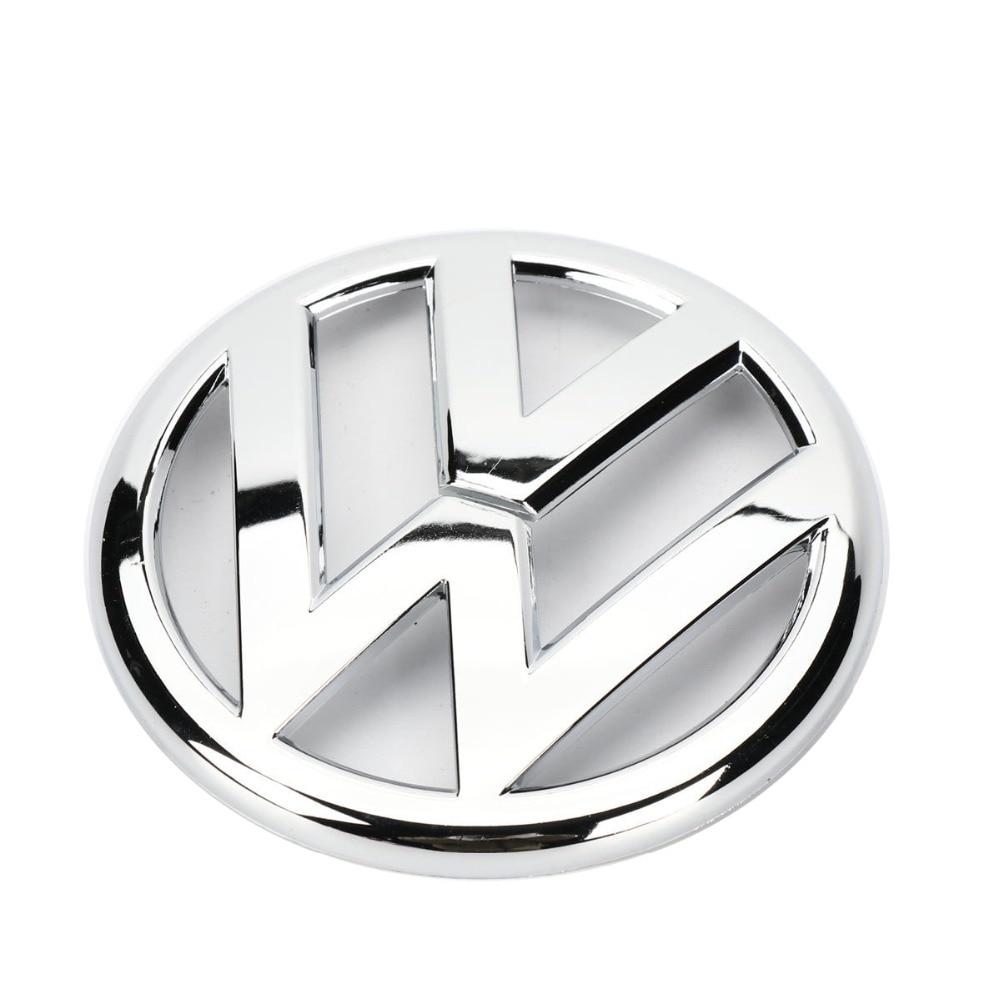 Chrome Rear Trunk Lid Emblem Logo Badge 110mm for VW Volkswagen Golf GTI MK6 CC Eos 5K0 853 630 100mm oem rear trunk lid badge emblem chrome logo car sticker for vw volkswagen jetta mk6 vi polo passat variant 5c6 853 630 ulm