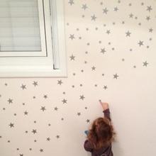 89 unid/set de pegatinas de pared de estrellas pequeñas para habitación de niños, cuarto de bebé, dormitorio, niños, hogar, pegatinas de pared decorativas, arte, Adhesivo de pared para niños
