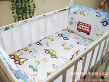 Promotion 5PCS Car Mesh Cot Baby Bedroom Set Nursery Bedding Cot bedding baby bed linen 4bumpers