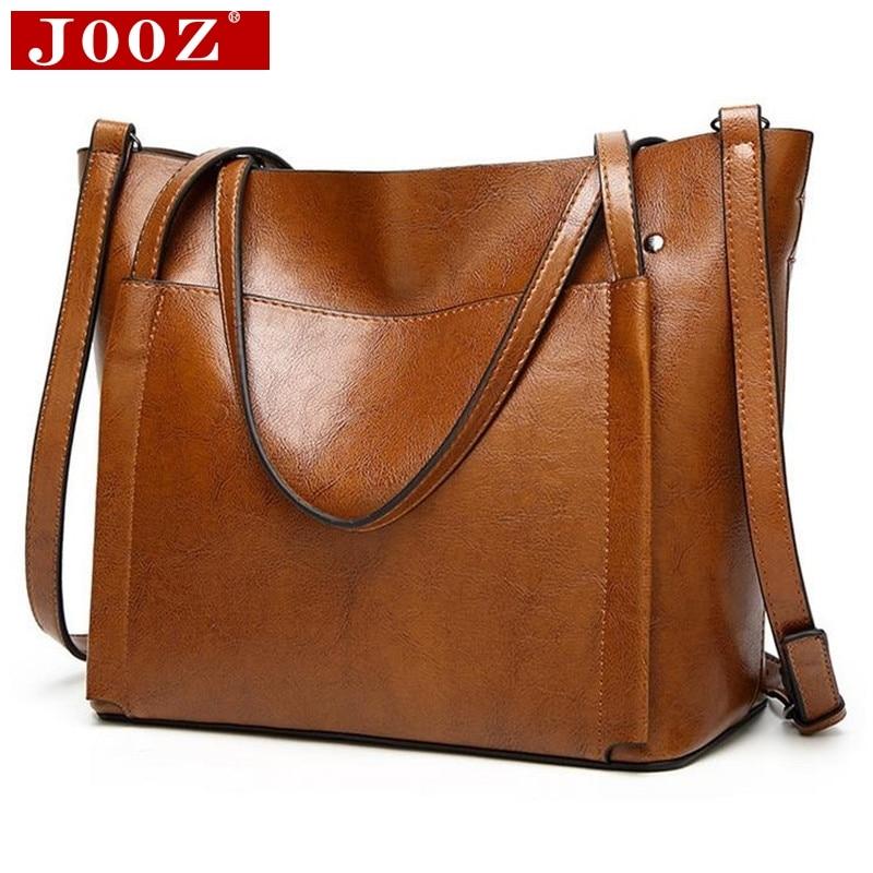JOOZ Large Soft Leather Bag Women Handbags Ladies Crossbody