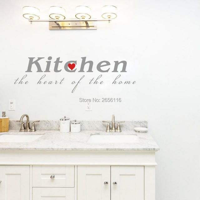 Wall Art Hallway Foyer Kitchen Is The Heart Quote Vinyl Wall - Wall decals hallway