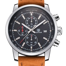 BENYAR Moda Sport Chronograph Mens Zegarki Top Marka Luksusowy Zegarek Kwarcowy Reloj Hombre 2017 Zegar Mężczyzna godzina relogio Masculino