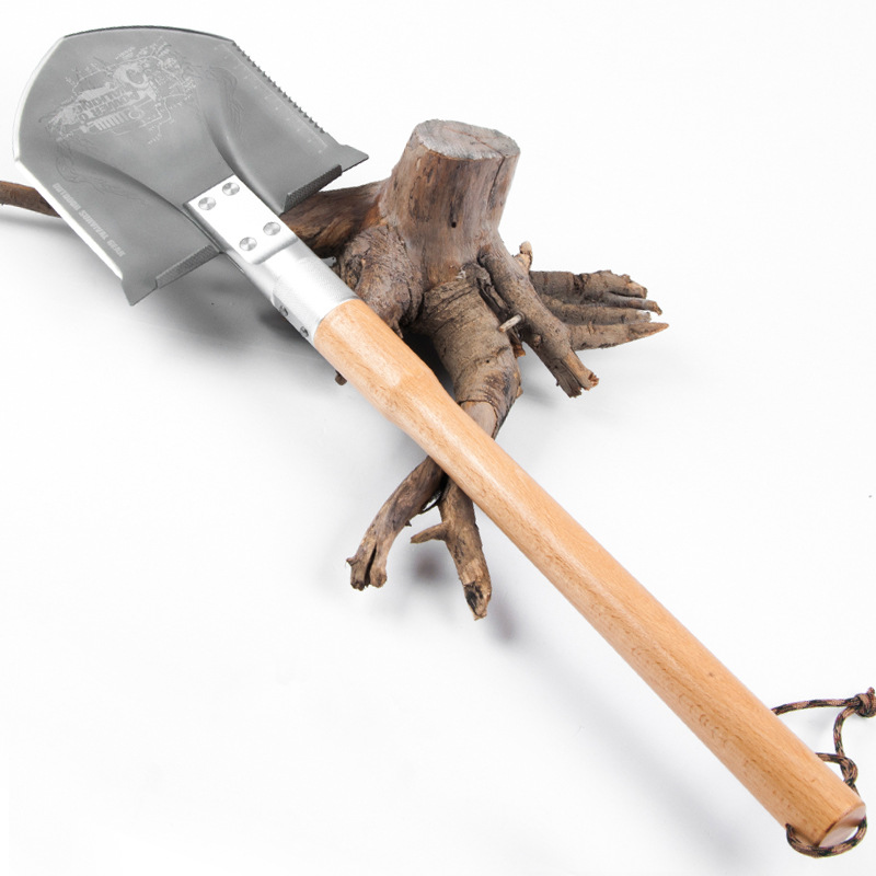 62cm tooling shovel outdoor manganese steel Tibetan mastiffs German multi function vehicle mounted military shovel wood handle 2017 chinese military shovel portable camp shovel survival spade outdoor multifunction shovel tactical hunting steel sapper