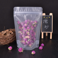 Frost packing bags stand food pouch Dried beef candy ziplock bag blank Recyclable plastic bags transparent 100pcs