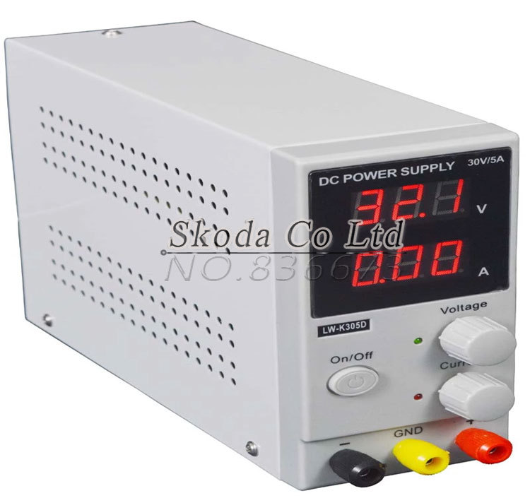 DHL send LW K305D Mini Switching Regulated Adjustable DC Power Supply SMPS Single Channel 30V 5A Variable wholesale lw 3010d regulated adjustable dc power supply single phase 30v10a us eu au plug