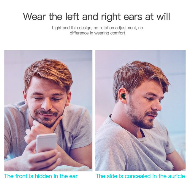 S650 Mini Bluetooth Earphone Wireless In-Ear Invisible Auriculares Earbuds Handsfree Headset Stereo with Mic for Phone
